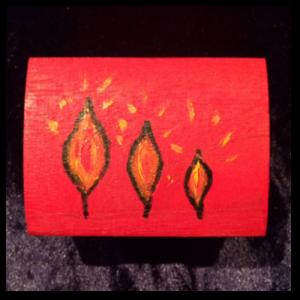 De vlammetjes op Troostkistje