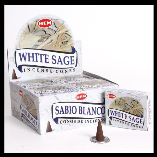 Witte Salie Wierook.Witte Salie Cones