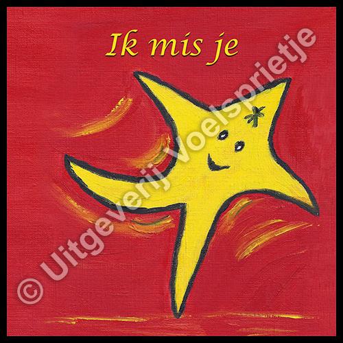 Troost Afscheid Rouw Verlies kaart voor kinderen De reis van Sterretje