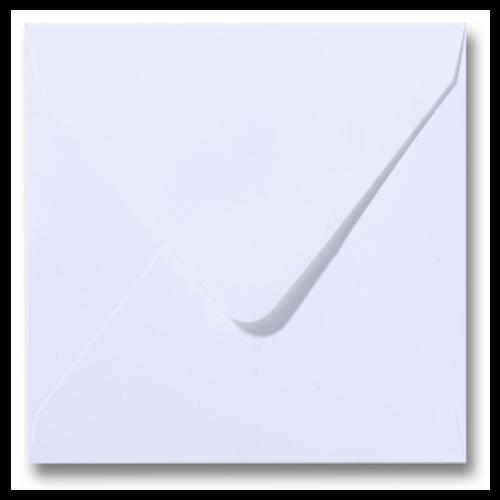 Inclusief bijbehorende witte vierkante envelop 15.5 x 15.5 cm