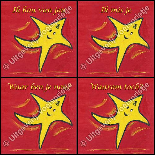 Set van 4 Troostkaarten De Reis van Sterretje