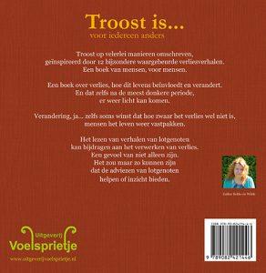Produkt achterkant nieuw boek Troost is voor iedereen anders ISBN 9789082421446