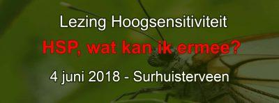 Evenement Lezing Hoogsensitiviteit HSP wat kan ik ermee Inspiratiehuis in Surhuisterveen