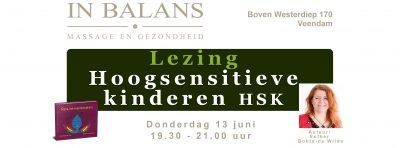 Lezing hoogsensitieve kinderen HSK Veendam 13 juni 2019